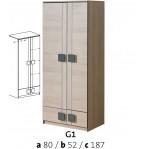 szafa 2 drzwiowa Gumi G1 Dolmar