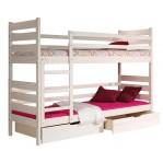 łóżko piętrowe Darek Dolmar z materacami i szufladami