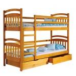 łóżko piętrowe Irek Dolmar z materacami i szufladami
