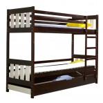 łóżko piętrowe Kacper Dolmar z materacami i szufladami