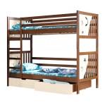 łóżko piętrowe Jacek Dolmar z materacami i szufladami