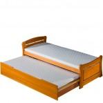 łóżko podwójne Patryk Dolmar z materacami i poj. na pościel