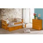 łóżko podwójne piętrowe Tytus Dolmar z materacami i szufladami