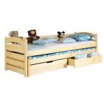 łóżko podwójne piętrowe Tolek Dolmar z materacami i szufladami