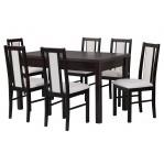 zestaw 9 Drewmix Stół Modena 1 + Krzesła Boss 14