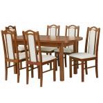 zestaw 19 Drewmix Stół Wenus P-1 + Krzesła Boss 9
