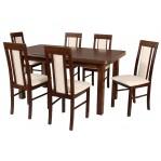 zestaw 23 Drewmix Stół Wenus P-5 + Krzesła Nilo 2