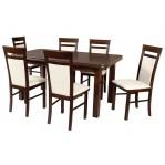 zestaw 25 Drewmix Stół Wenus P-5 + krzesła Milano 6