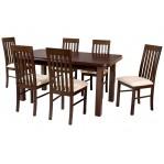 zestaw 40 Drewmix Stół Wenus P-5 + Krzesła Nilo 1