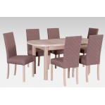 zestaw 45 Drewmix Stół Wenus P-1 + Krzesła Roma 2
