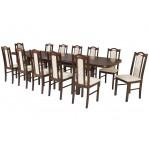 zestaw stołowy 49 Drewmix Stół Wenus P-7 + Krzesła Boss 9