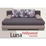 Kanapa, tapczan Luna Hollywood czerwony - Kulak