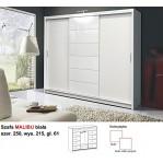 Malibu biała szafa drzwi przesuwne Stolar
