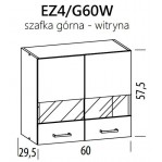 Eliza EZ4/G60W szafka górna witryna 60 BogFran