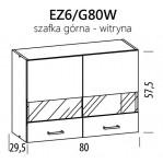 Eliza EZ6/G80W szafka górna witryna 80 BogFran