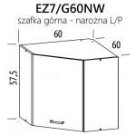 Eliza EZ7/G60NW szafka górna narożna 60 BogFran