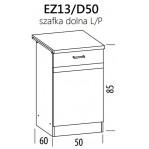 Eliza EZ13/D50 szafka dolna 50 z drzwiami BogFran