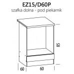 Eliza EZ15/D60P szafka dolna pod piekarnik 60 BogFran