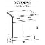 Eliza EZ16/D80 szafka dolna z drzwiami  80 BogFran