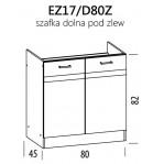 Eliza EZ17/D80Z szafka dolna pod zlew 80 BogFran