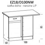 Eliza EZ18/D100NW szafka dolna narożna 100 L/P BogFran
