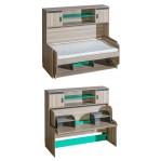 Łóżko Ultimo 16A z biurkiem i nadstawką Dolmar