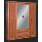 Szafa Oskar  4 drzwiowa z lustrem OSZ 160 Młot Meble