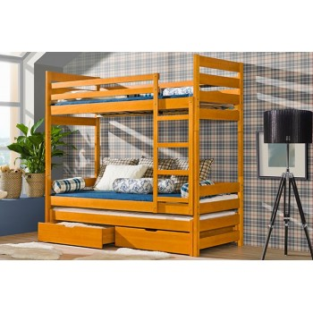 Trzyosobowe łóżko Piętrowe Filip Dolmar Meble Pyton