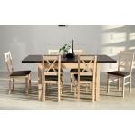 Zestaw 21 stół Modena 1+krzesła Nilo 10 Drewmix