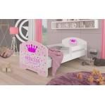 Łóżko PEPE + barierka J14 Princessa ADRK FURNITURE