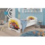 Łóżko PEPE + barierka J18 Straż ADRK FURNITURE