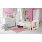 Łóżko PEPE + barierka J21 Dziewczynka_Jednorożec ADRK FURNITURE