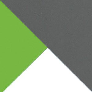 biały brylantowy + jasny grafit + zieleń mamba